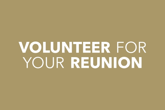 Volunteer for your Reunion
