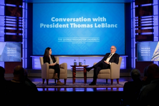 Conversation with President LeBlanc